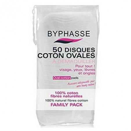 Byphasse - 50 Disques Coton Ovales Démaquillants