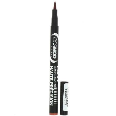 Cosmod - Liner Semi Permanent Yeux Et Lèvres  HAUTE PRÉCISION - N°10 Corail