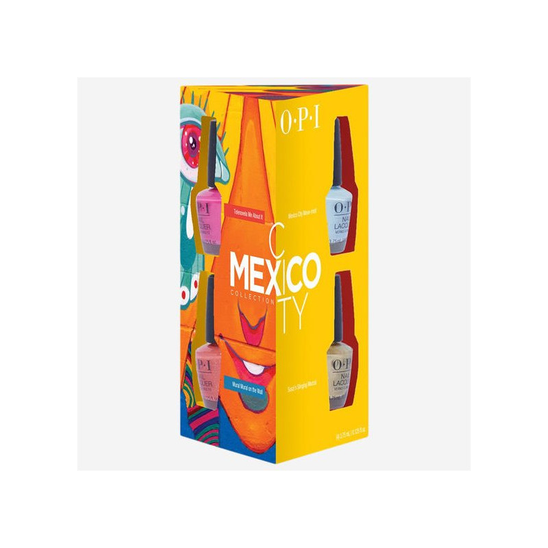 Opi - Lot De 4 Vernis A ongles Mini MEXICO CITY COLLECTION