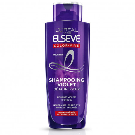 L'Oréal Paris - Shampoing Violet Déjaunisseur COLOR-VIVE ELSEVE - 200Ml