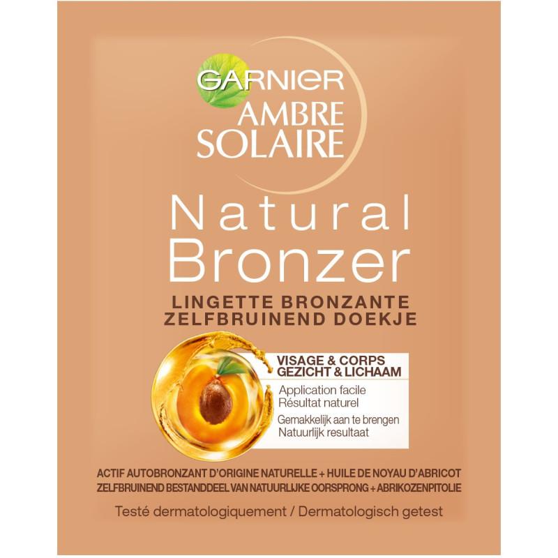 Garnier - Lingettes Bronzantes Visage & Corps AMBRE SOLAIRE