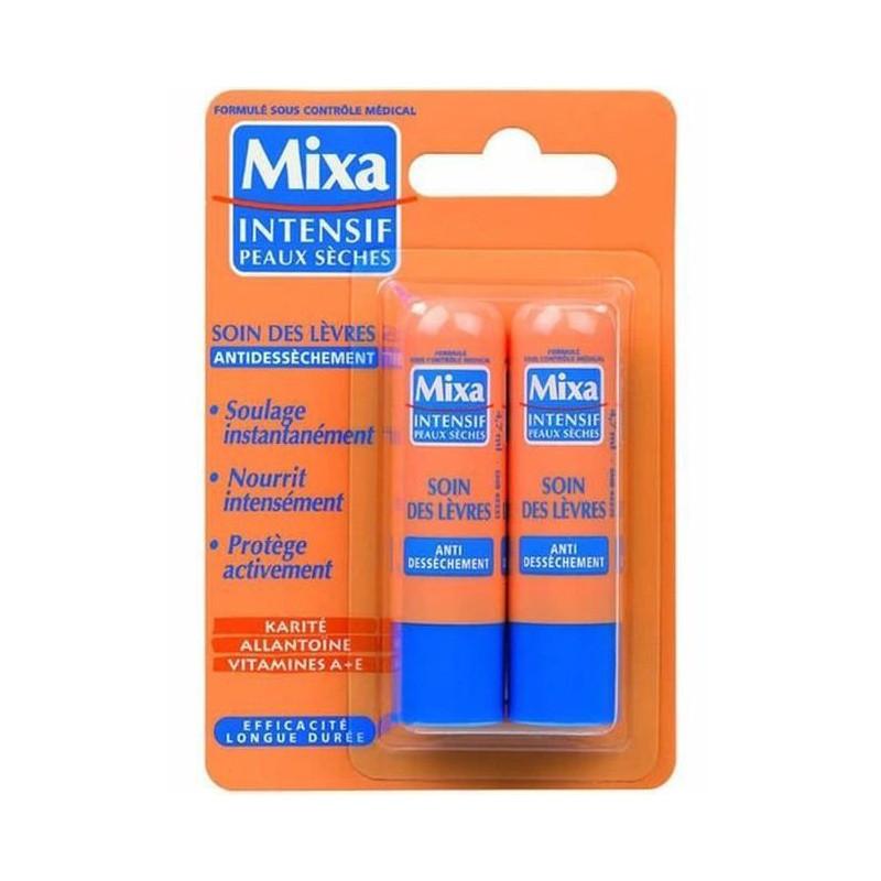 Mixa - Soin des Lèvres Anti-Dessèchement 2x4.7Ml- Peaux Sèches