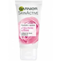 Garnier - Crème de Jour Végétale à l'Eau Florale de Rose SKINACTIVE - 50Ml