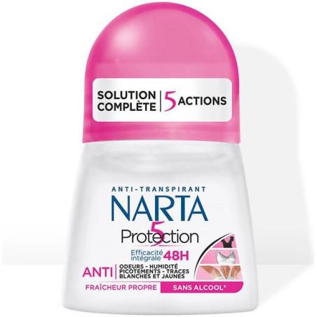 Narta - Déodorant Bille Fraîcheur Propre PROTECTION 5 - 60Ml