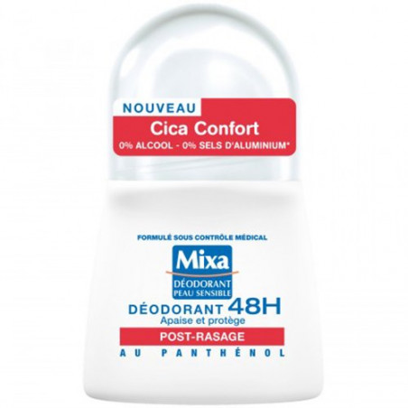 Mixa - Déodorant Bille Post-Rasage CICA CONFORT 48H - 50Ml