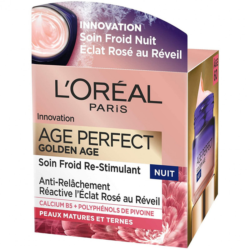L'Oréal Paris - Soin Froid Re-Stimulant Nuit AGE PERFECT GOLDEN AGE - 50Ml