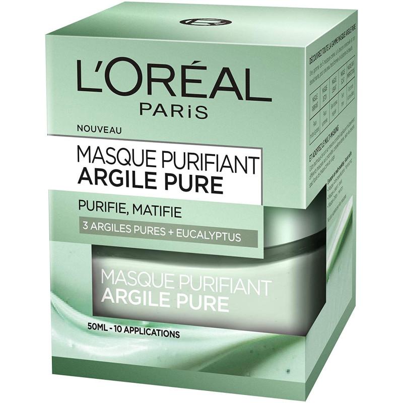L'Oréal Paris - Masque Purifiant ARGILE PURE - 50Ml