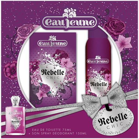 Eau Jeune - Coffret Eau de Toilette 75Ml + Spray Déodorant 150Ml REBELLE CHIC