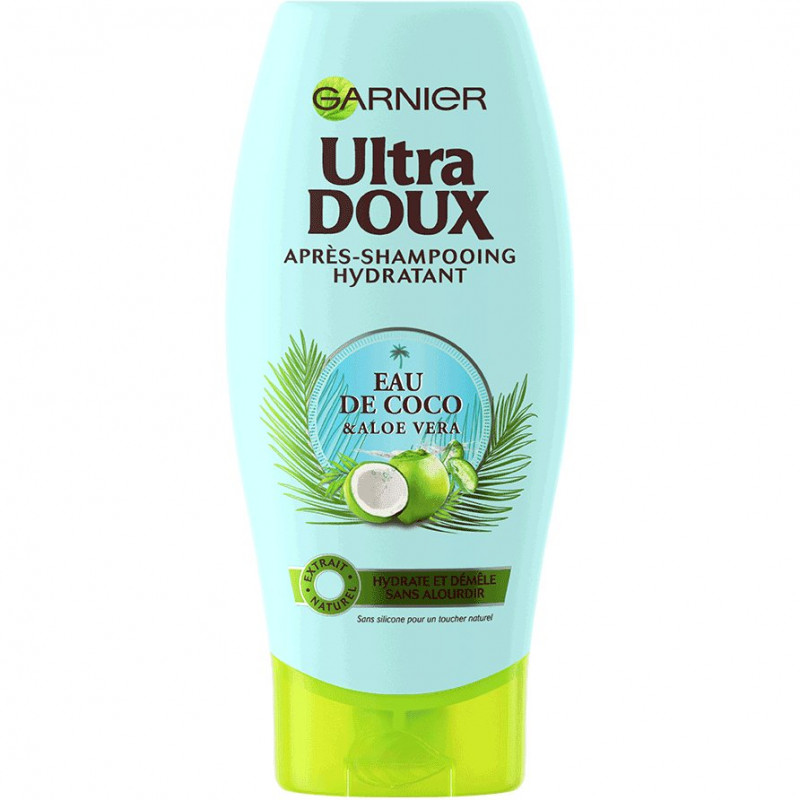 Garnier - Après-Shampoing Coco Aloe Vera ULTRA DOUX - 200Ml