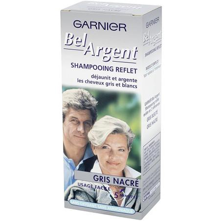 Garnier - Shampoing Reflet Déjaunissant GRIS NACRÉ - 40Ml