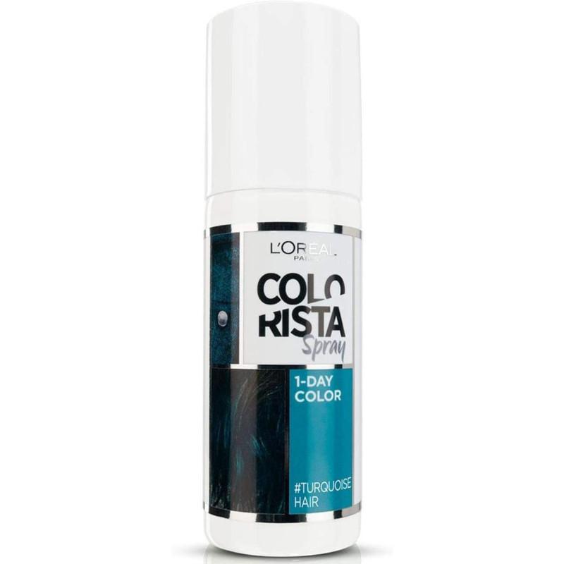 L'Oréal Paris - Spray COLORISTA Couleur 1 Jour Pastel 75Ml - Turquoise Hair