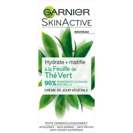 Garnier - Crème de Jour Végétale à la Feuille de Thé Vert SKINACTIVE - 50Ml