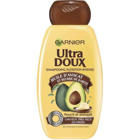 Garnier - Shampooing  Nutrition Intense Huile d'Avocat et Beurre de Karité ULTRA DOUX - 300Ml