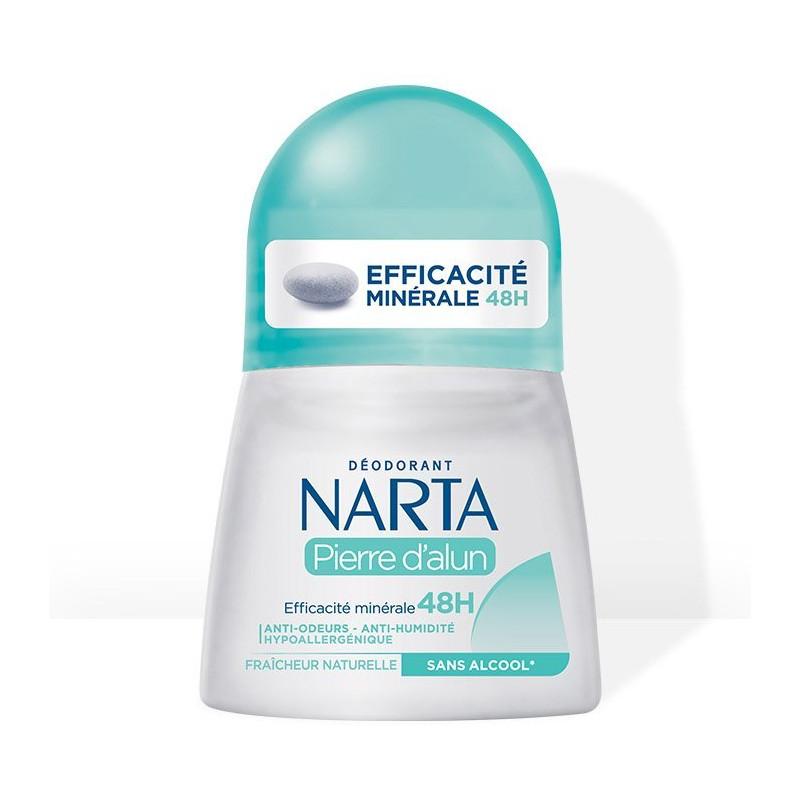 Narta - Déodorant Efficacité Minérale 48H PIERRE D'ALUN - 50Ml