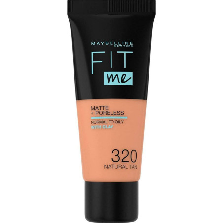 Maybelline New York - Fond de teint FIT ME MATTE & PORELESS 30Ml - 320 Natural Tan