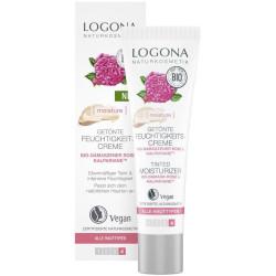 Logona - Crème Hydratante Teintée 30ml BIO - Rose de Damas & Algue Brune