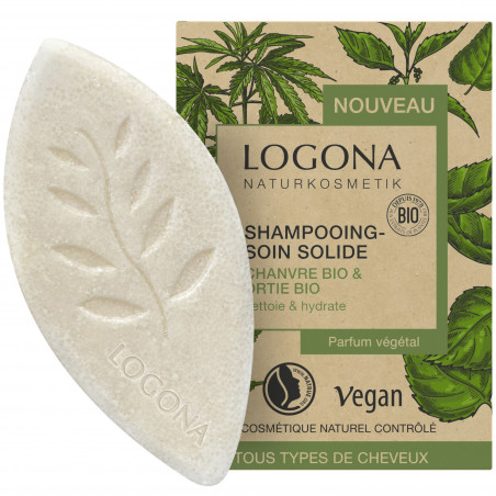 Logona - Shampoing Solide Chanvre Bio & Ortie Bio - 60g