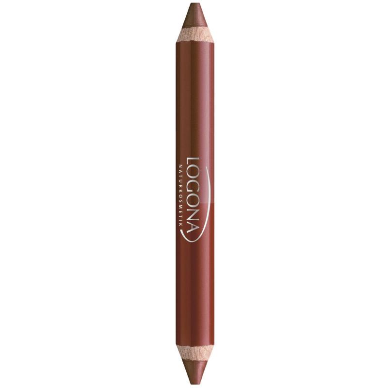 Logona - Rouge à Lèvres Crayon Bois DUO - 02 Chestnut