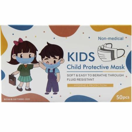OEM - Masques à Usage Unique 3 P Pour Enfant - Boite de 50 Masques