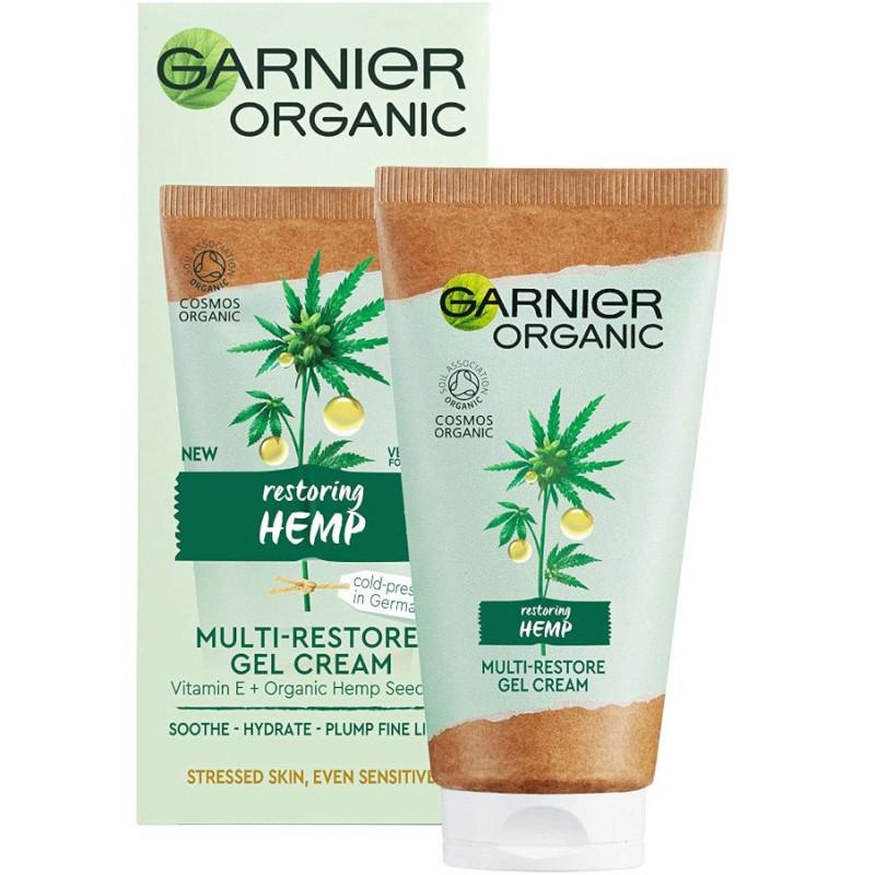Garnier - Gel-Crème Hydra Réparateur Chanvre 50Ml - Chanvre Réparateur