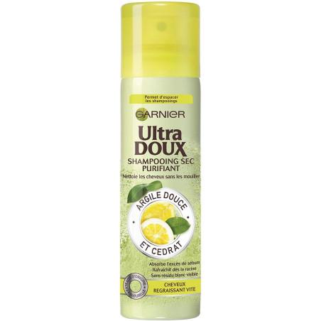 Garnier - Shampooing Sec Purifiant à l'Extrait de Citron ULTRA DOUX - 150Ml