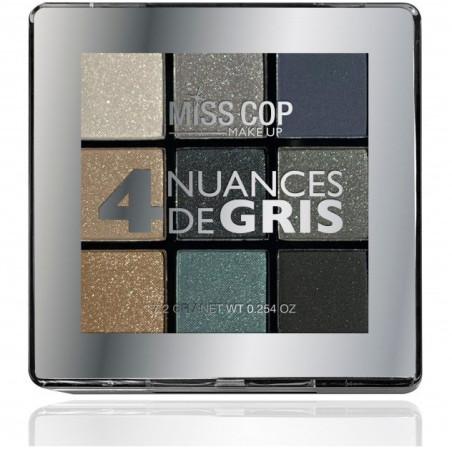 Miss Cop - Palette de Fard à Paupières - 4 Nuances de Gris