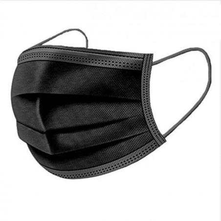 Masques Noir - Masques Jetable 3 P Noir - Boite de 50 Masques