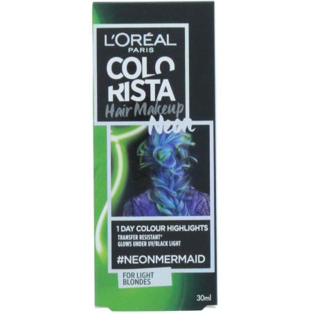 L'Oréal Paris - Coloration 1 Jour Hightlights COLORISTA 30ml - Mermaid Green Neon