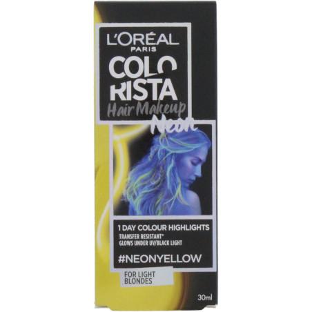 L'Oréal Paris - Coloration 1 Jour COLORISTA HAIR MAKE UP 30ml - Neon Yellow