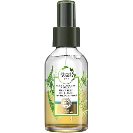 Herbal Essences - Huile Capillaire à l'Huile de Graine De Chanvre Et Aloe - 100Ml