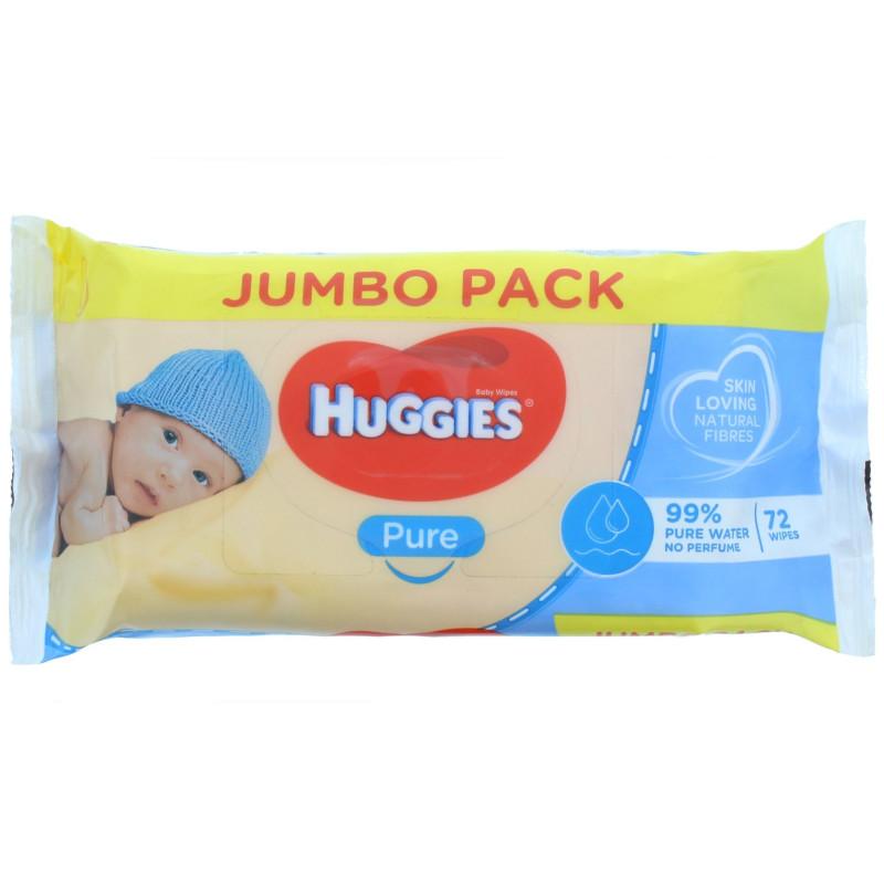 Huggies - Lingettes Jumbo Pack - Prure Baby 72 S