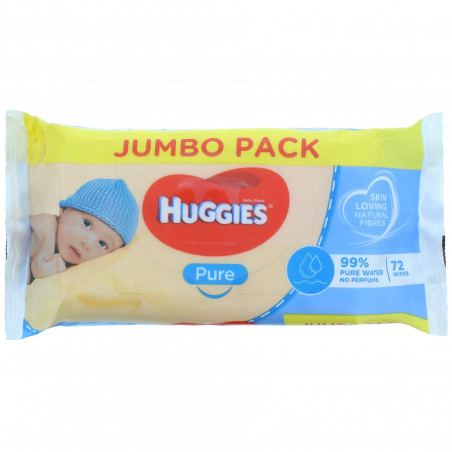 Huggies - Lingettes Jumbo Pack - Pure Baby 72 S