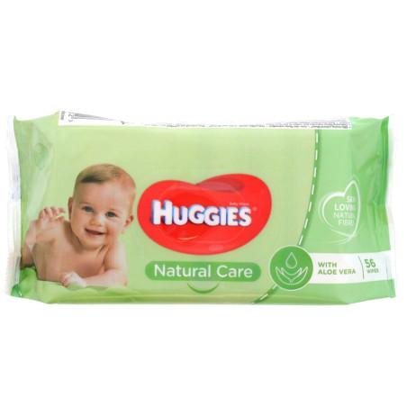 Huggies - Lingettes Natural Care à l'Aloe Vera - 56pcs