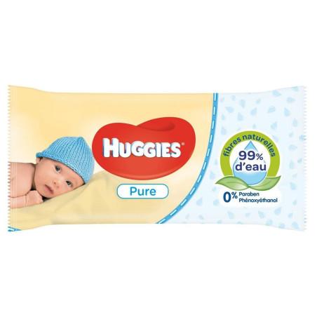 Huggies - Lingettes Bébé Pure - 56pcs