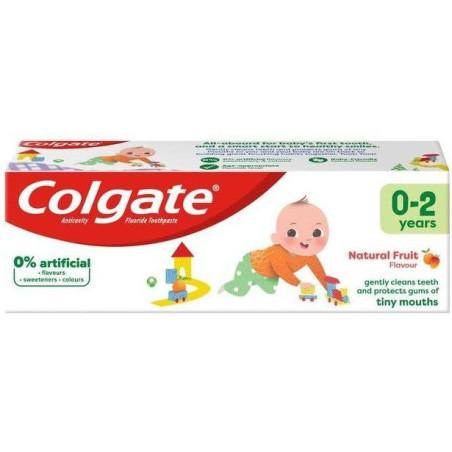 Colgate - Dentifrice Enfants NATURAL FRUIT 0-2Ans - 50Ml