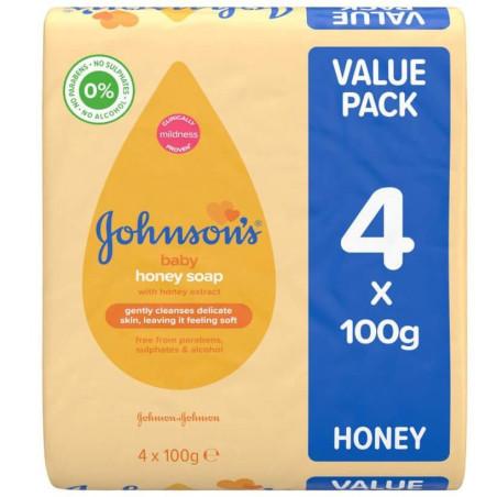 Johnson's - Savon de Bébé au Miel 100 G - 4pcs