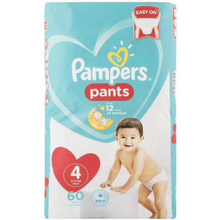 Pampers - Couches Pants Taille 4 - 9-14 kg - 60pcs