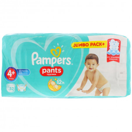 Pampers - Couches Pants Taille 4+ - 52pcs