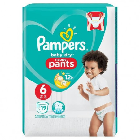 Pampers - Couches Pants Taille 6 - 19 pcs