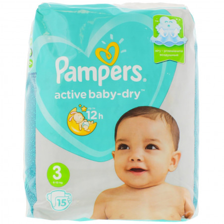 Pampers - Couches Baby Dry Taille 3 -15pcs