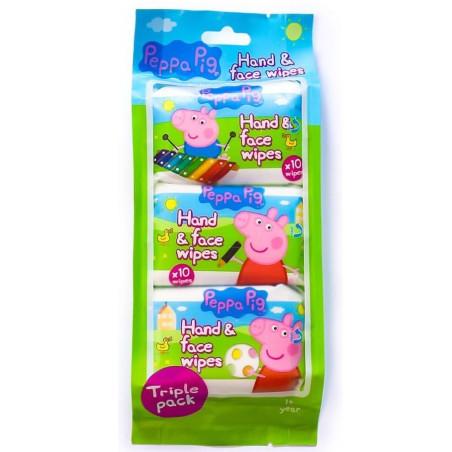 Peppa Pig - Lingettes Main et Visage - 3 Paquets 10pcs