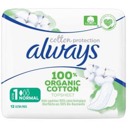 Always - Serviettes Hygiéniques ORGANIC COTTON 12pcs - Protection Normal