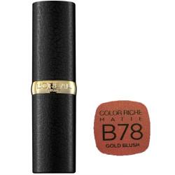 L'Oréal Paris - Rouge à lèvres COLOR RICHE MATTE - B78 Gold Blush