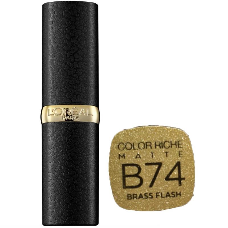 L'Oréal Paris - Rouge à lèvres COLOR RICHE MATTE - B74 Brass Flash