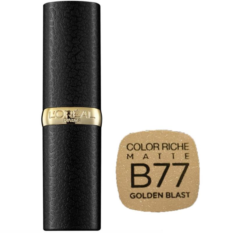 L'Oréal Paris - Rouge à lèvres COLOR RICHE MATTE - B77 Golden Blast