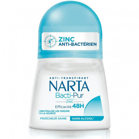 Narta - Déodorant Bille BACTI-PUR 48H - 50ml