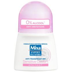 Mixa - Déodorant Bille Anti-Irritations SENSITIVE CONFORT48H - 50Ml
