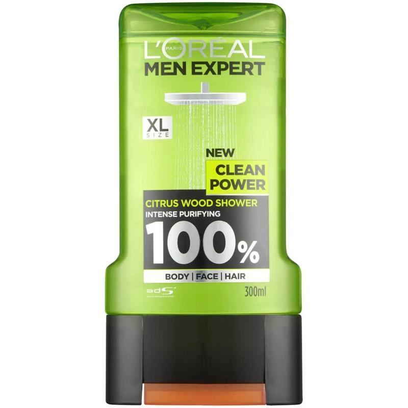 L'Oréal Paris - Gel Douche Bois d'Agrume MEN EXPERT - Clean Power