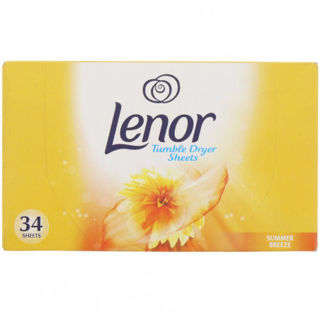 Lenor - Tissu Sèche-linge SUMMER BREEZE - 34 Feuilles