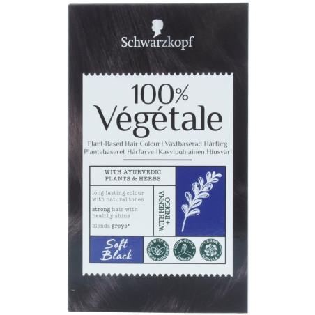 Schwarzkopf - Coloration Poudre 100% VÉGÉTALE - Soft Black
